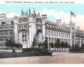 Vintage New York City Postcard - Union Theological Seminary (Unused)