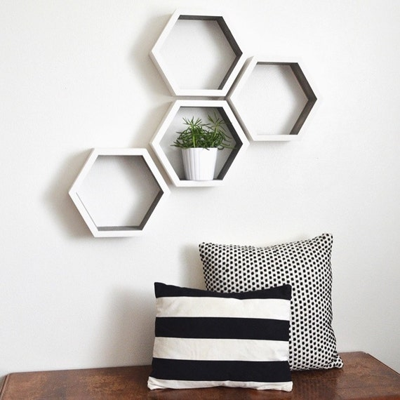 Hexagon Shelves Honeycomb Shelves Geometric Shelves