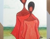 Afro Caribbean Greeting Card 'Mother's Pride'