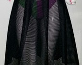 Black Mesh Pleated Skirt/ black mesh skirt/pleated skirt/ see thru skirt/ burning man skirt