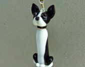 Boston Terrier Ornament - Lampwork Glass Beads SRA