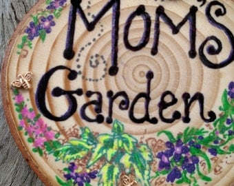 Hand Painted Wooden Garden Stake
