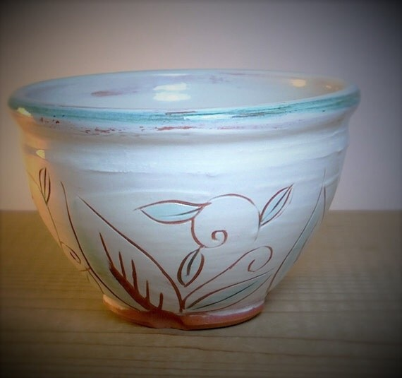 Pottery Bowl Single Serving Size Ceramic Bowl Soup Salad