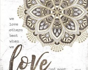 Love,Inspirational Wall Decor,Wooden Sign,12x12,Marla Rae,