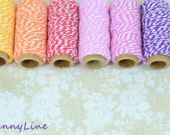 Bakers Cotton Twine - Grab Bag -  5 rolls of 20 yards each - Liquidation!