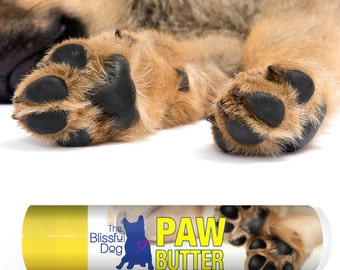 DOG PAW BUTTER All Natural Handcrafted Moisturizing Treatment  for Dry Rough Dog Pads .15 oz On-the-Go Size Tube of Paw Butter in a Gift Bag