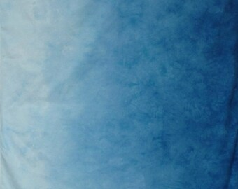 Hand Dyed Fabric Gradient Blue Sky