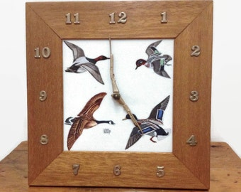 Vintage Duck Hunting Clock - Lanshire - Electric - Made in USA - The Wama Co. - Baltimore, MD