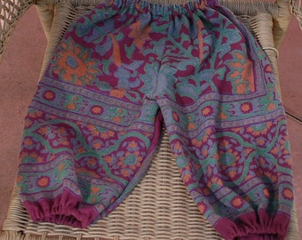 Hippie Kids Harem pants -size 2- Maroon Sunflower-Boys or Girls-read measurements