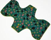 Heavy Hemp Core- Hedgehoglets Reusable Cloth Goddess Pad- WindPro Fleece 12.5 Inches (31.75 cm)