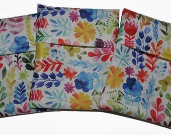 Flower Garden PUL Pad Wrapper/ Mini Travel Wet Bag