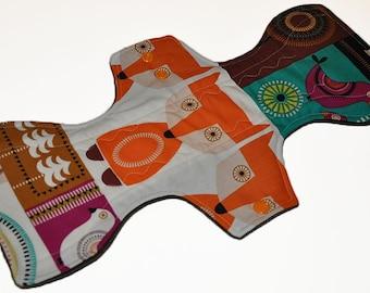 Heavy Hemp Core- Norwegian Woods Reusable Cloth Goddess L Pad- WindPro Fleece- 14.5 Inches