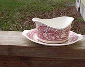 Gravy Boat  Pink/Red Memory Lane Set