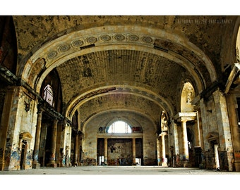 Michigan Central Station Detroit Art MCS Architecture Photography Detroit Photography Abandoned Building Photography Urban Exploration Gold
