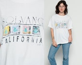 California T Shirt SOLVANG Windmill 80s Graphic Tshirt Dutch Vintage Top Hipster Paper Thin 1980s Retro Tee White Travel Extra Large xl