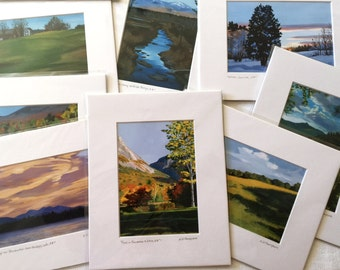 Matted 8x10 prints of NH Landscape Paintings, fits 11x14 frame