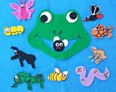 Felt Board Story Set I Know an OLD FROG Who Swallowed a Fly Felt Board Flannel Board Story Set