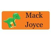 30 Custom raptor dinosaur Name Stickers   preschool Waterproof Boy Labels   Kids School Supplies No.N13