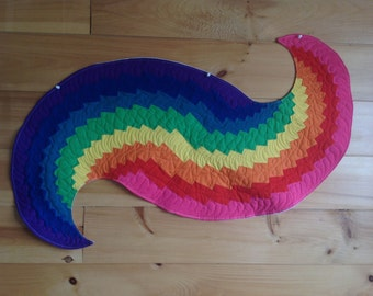 Rainbow spiral large table runner