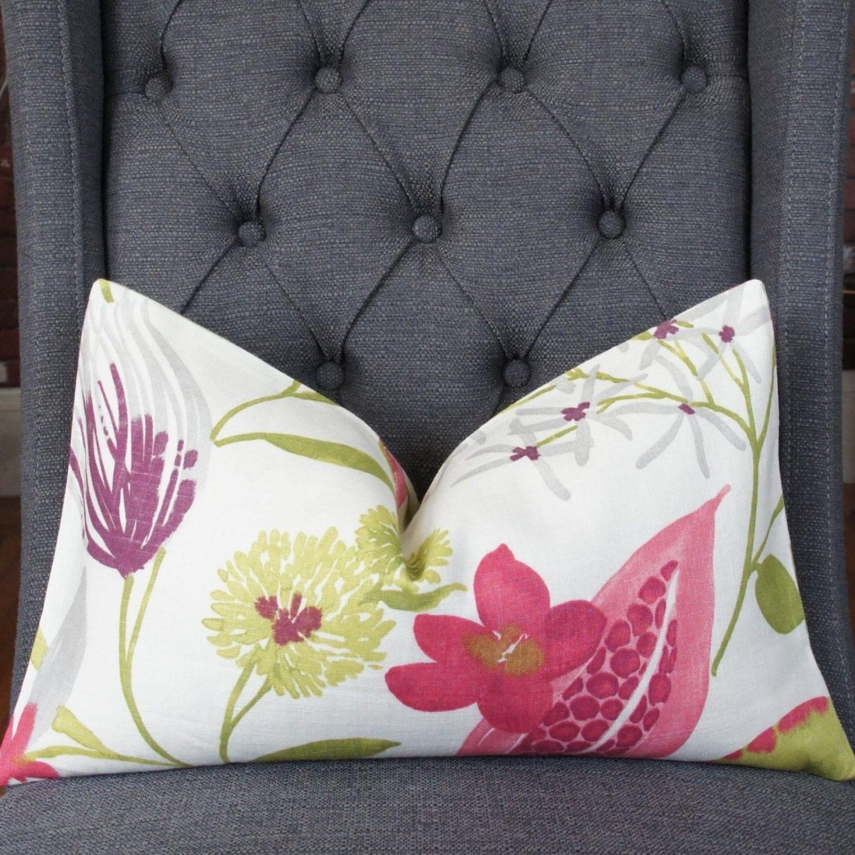 Plum Floral Pillow Cover Decorative Pillow Throw Pillow