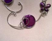 Bridemaid jewelry - Wedding - Prom - Aluminium wire jewelry - Aluminium wire necklace - Gift for women - Purple