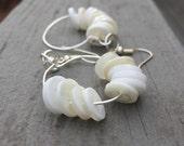 Button hoops earrings, button earrings, earrings, hoop earrings
