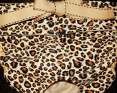 Dog Diapers Britches or Panties Ultra Soft Tiny Cheetah Print Golden Brown and Beige Corduroy