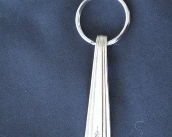 Vintage silverware Keychain, Art deco style