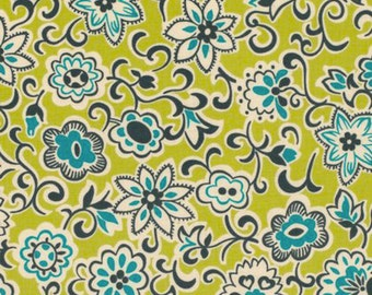 Free Spirit Fabric Denyse Schmidt Ansonia - Floral Paisley - Mossy PWDS059 BTY
