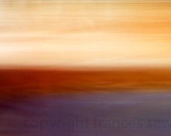 Southwest Sunset, huge giclee photo, purple, orange, unique photo, abstract photography, frances seward, horizon art, abstract wall art, sky