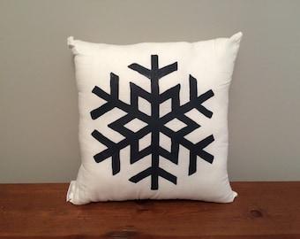 Modern Snowflake Pillow