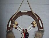 Native American Bone Choker Horseshoe Art