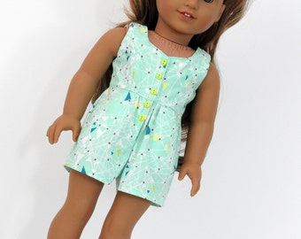 18 Inch Doll Clothes, AG Doll Clothes, Trendy 18 Inch Doll Handmade Romper  fits American Girl Dolls