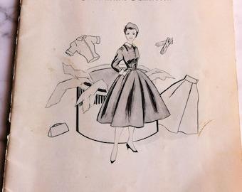 Vintage 50s Dress Sewing Clothing 1955 Mid Century Atomic Era