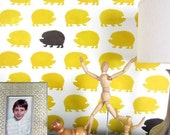 Hedgehogs Wall Stencil Pattern -SM- Kids room ideas - Trendy stencils for DIY home décor