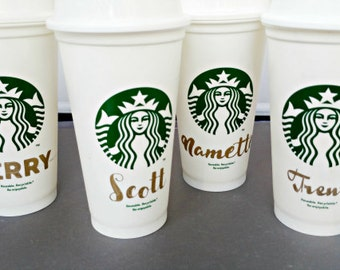 Starbucks Cups,  Starbucks Custom Personalized Cup, Starbucks Mug, Custom Starbucks cup, Reusable Cups,