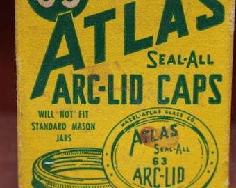 Vintage Hazel-Atlas Seal-All ARC-Lid Caps 1950's