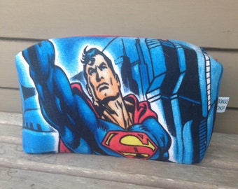 Superman Zipper Pouch Recycled