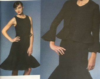 Vogue V1269 Sewing Pattern, Chado Ralph Rucci, Designer, Ladies Dress, Ladies Jacket, 12-14-16-18-20