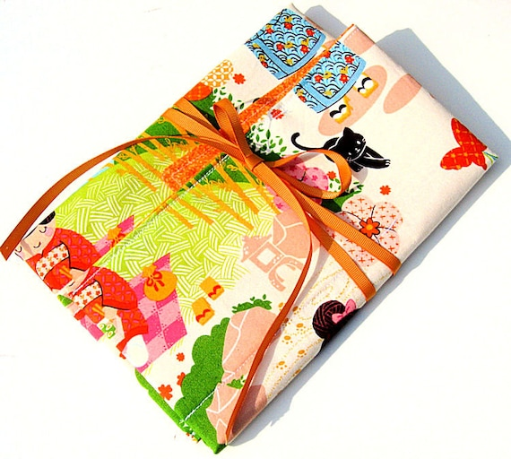 Japanese Fabric Book Cover : Items similar to bullet journal planner cover case fabric