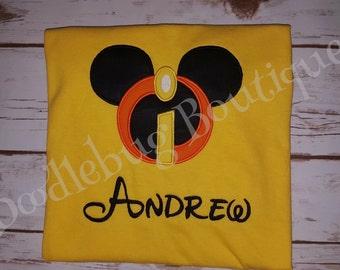 Incredibles Mickey shirt