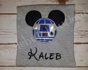 R2D2 Star Wars Mickey shirt