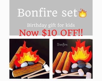 Etsy Pretend felt food - felt bonfire set  play food birthday kids gift