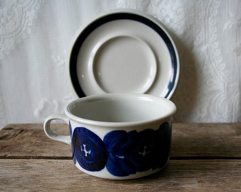 Arabia Finland Cup and Saucer Ulla Procope Anemone Set of 2
