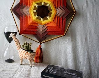 Vintage Fiber Art Mid Century Modern Wall Hanging Textile Weaving Boho