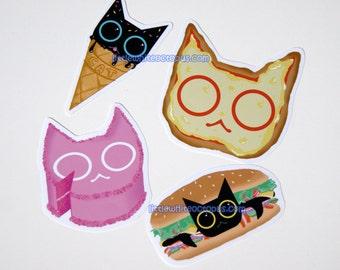 Cat Food Sticker Set