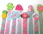 Lilly Hair Bow Holder  Hair Clip Holder Barrette Holder with Polka Dotted Ribbon