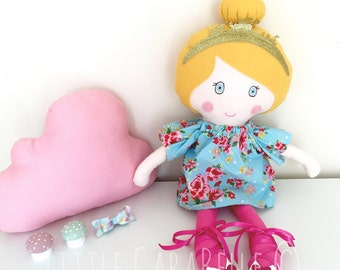 Rag doll Dolly Custom Handmade Doll with Floral Dress CE marked Perfect for playtime