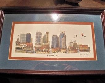 1994 Nashville live print by Phil ponder framed