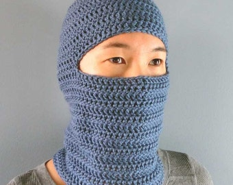 Classic Balaclava - 4 Sizes - PDF Crochet Pattern - Instant Download